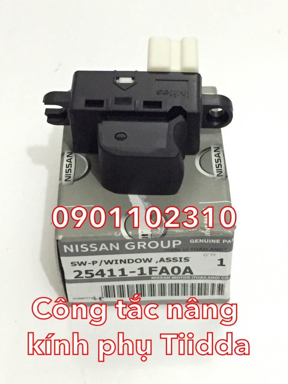 Công tắc nâng kính phụ Nissan Tiida C11 254111FA0A